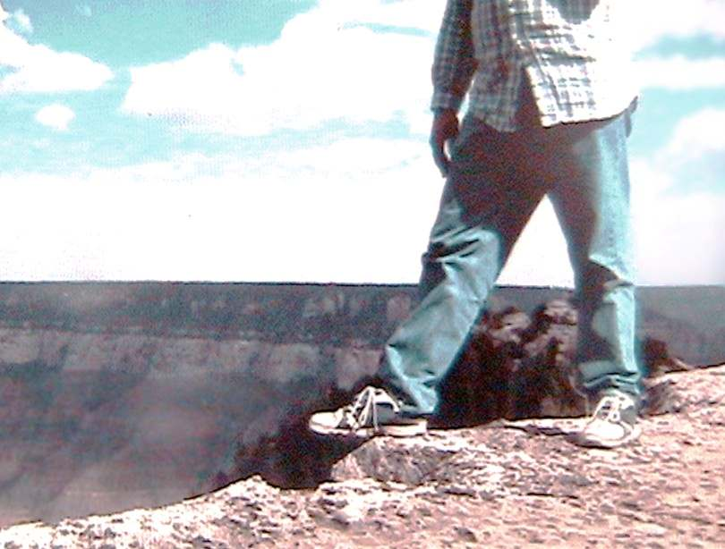 Grand Canyon Rim - Shoe Over The Edge